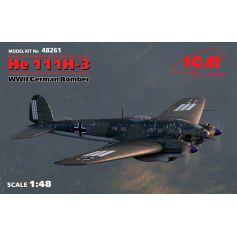 Bombardier Allemand Wwii Heinkel He 111h-3 1/48