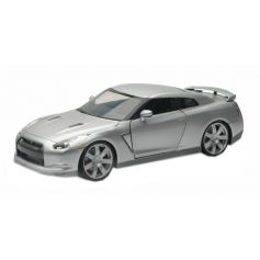 New Ray 71933 - NISSAN GT-R 2009 Coloris Gris Window Box Red 1/24