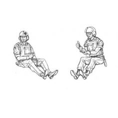 CMK KITS 129-F48103 VIETNAM LRRP US HELICOPTER CREW 1/48