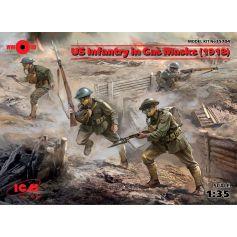 Infanterie Us En Masque A Gaz 1918 1/35