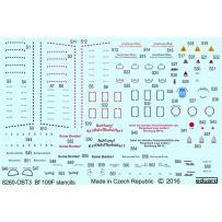 EDUARD 48026 BF 109F STENCIL 1/48