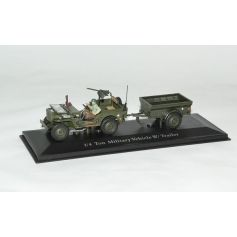 Jeep Willys Us Army Et Remorque 1/43