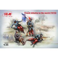 INFANTERIE FRANCAISE EN MARCHE 1914 1/35