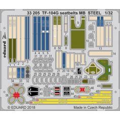Tf-104g Seatbelts Mb Steel 1/32