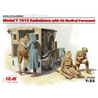 MODEL T 1917 AMBULANCE WITH US MEDICAL PERSONNEL 1/35 (08/17)
