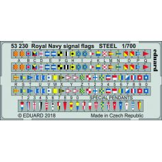 Royal Navy Signal Flags Steel 1/700