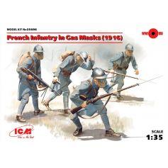 Infanterie Francaise En Masques A Gaz 1918 1/35