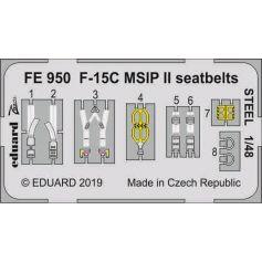 F-15c Msip Ii Seatbelts Steel 1/48
