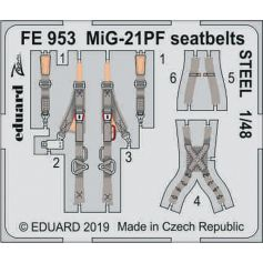 Mig-21pf Seatbelts Steel 1/48
