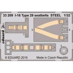I-16 Type 29 Seatbelts Steel 1/32