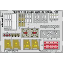 Eduard FE983 F-4B interior seatbelts 1/48