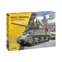 M4A1 Sherman et Infanterie 1/35