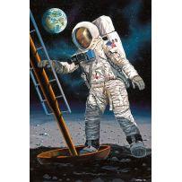 Apollo 11 Astronaut on the Moon 1/8