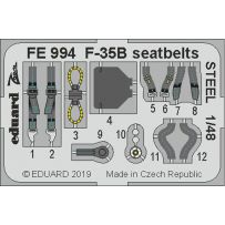 F-35B seatbelts steel 1/48