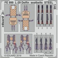 L-29 Delfin seatbelts Steel 1/48