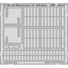 USS Missouri part 10 - hull plates 1/200
