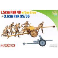 PaK 40 7,5cm et servants 1/72