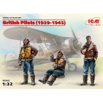 British Pilots (1939-1945) (3 figures) 1/32