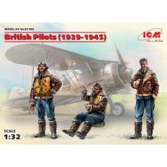 British Pilots (1939-1945) (3 figures) 1/32