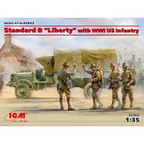Standard B Liberty with WWI US Infantry 1/35