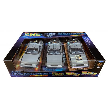 Coffret 3 Doleran Back To The Future 1/24