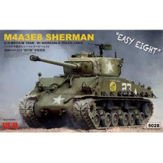 Sherman M4A3E8 W/Workable Track links 1/35