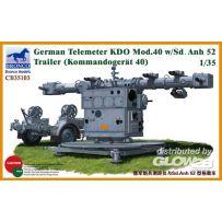 German Telemeter KDO Mod.40 w/Sd.Anh 52 Trailer 1/35
