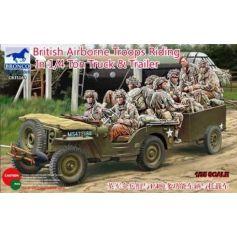 British Airborne Troops In 1/4Ton Truck 1/35