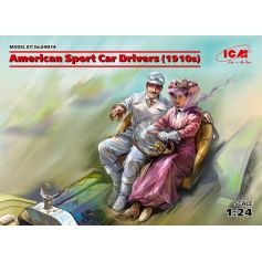 American Sport Car Drivers 1910s 1 male 1 female figures 1/24