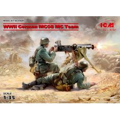 WWII German MG08 MG Team 1/35