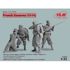 French Zouaves 1914 4 figures 1/35