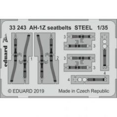 AH-1Z seatbelts Steel 1/35