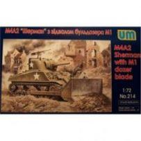 Tank M4A2 with M1 Dozer Blade 1/72