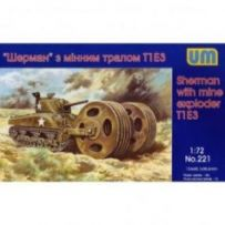 Sherman with mine exploder T1E3 1/72