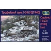 T-34/76 Tank with resin parts 1/72