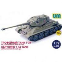 T-34 + 88 cm KwK 36L/36 gun 1/72