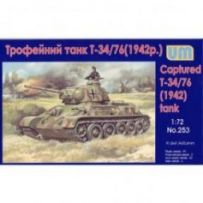 T-34-76 WW2 captured tank 1942 1/72