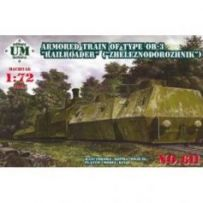 Armored train 23ODBP of type OB-3 1/72