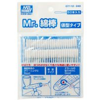 Mr. Cotton Swab Straight Stick Type (50pcs)