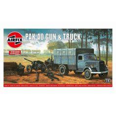Pak 40 Gun & Track 1/76