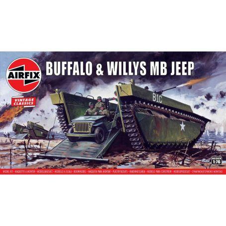 Buffalo Amphibian LVT & Jeep 1/76
