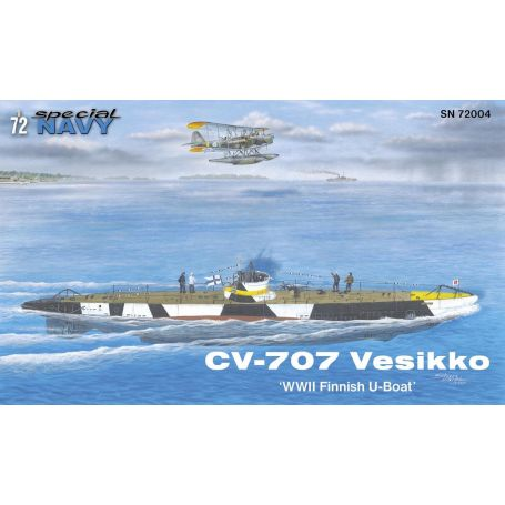 CV 707 Vesikko WWII Finnish U-Boat 1/72