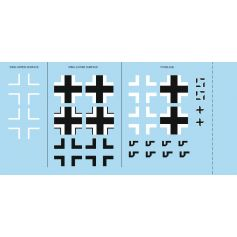 Bf 109G-6 national insignia 1/48