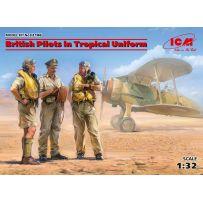 British Pilots in Tropical Uniform (1939-1943) 1/32