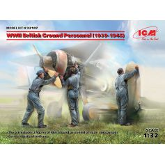 WWII British Ground Personnel 1939-1945 3 figures 1/32