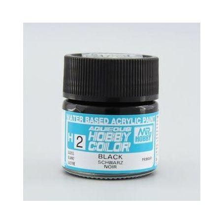 H-2 Aqueous Hobby Colors (10 ml) Black