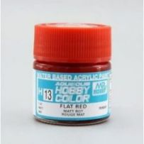 Aqueous Hobby Colors (10 ml) Flat Red