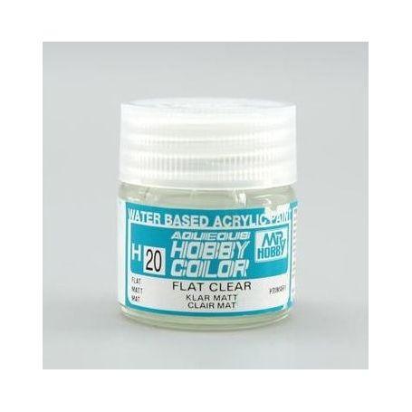 Aqueous Hobby Colors (10 ml) Flat Clear