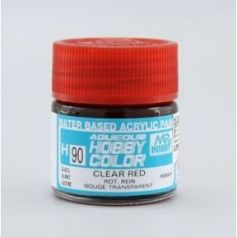 H-90 Aqueous Hobby Colors (10 ml) Clear Red