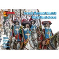 French mounted guards Royal Musketeers 1/72